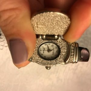 Jewelry - Silver and purple clip on watch bracelet